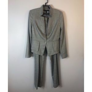 WHBM Gray Pant Suit Size 8